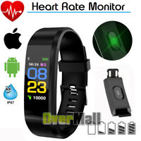 Smart Watch Band Heart Rate Blood Pressure Monitor BP Tracker Fitness Wristband