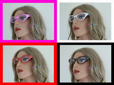 GREASE PINK LADIES GLASSES 50s STYLE NOVELTY FANCY DRESS HEN PARTY