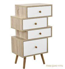 Scandinavian Bedside Cabinet Retro Chest Of Drawers Storage Bedroom Furniture