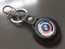 BMW 'Motorsport' E28 Real Leather Keyring Fob Key High Quality, UK Stock