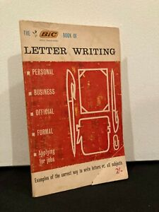 The Bic Book of Letter Writing - Vintage Paperback 1964