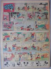 Mickey Mouse Sunday Page by Walt Disney from 8/13/1939 Tabloid Page Size