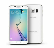 Samsung Galaxy S6 Edge Verizon SM-G925V 32GB Smartphone - White (Shaded Scree...
