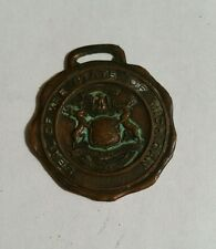 BASTIAN BROS. WATCH FOB SEAL OF THE STATE OF MICHIGAN RARE COLLECTIBLE TOKEN