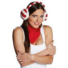 Rubies 4170612 - Ohrenwärmer rot/weiß, für Weihnachten oder Karneval