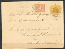 N.I.,ENV.20 CT.(G.32),BIJFRANK.2½ CT.DJOKJAKARTA-KROMHOUT KAZERNE UTR.1924 ZD016