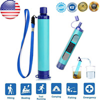 Outdoor Water Filter Personal Purifier Filtration Straw Emergency Survival Tool