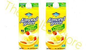 2 Almond Breeze Almondmilk Blended with Real Bananas 64oz