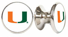MIAMI HURRICANES NCAA DRAWER PULLS / CABINET KNOBS