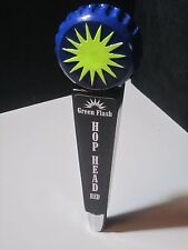 Green Flash Hop Head Red Tall Beer Tap Handle Keg Game Room Man Cave San Diego