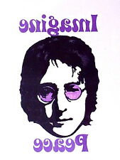 1 x JOHN LENNON IMAGINE PEACE multi colour Temporary Tattoo  TY0244