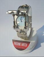 1992 New Edge Co Machine III Futuristic Cylinder Wrist Watch Free Shipping