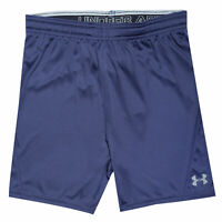 Junior Boys Under Armour Challenger Ii Knit Shorts In Navy- Ribbed Waistband-