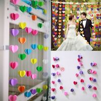 4M Heart Paper Garland Bunting Banner Party Wedding Baby Shower Decorations NEW