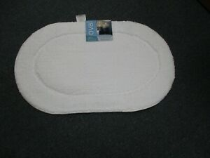 BIBB Oval Non-Slip SPA Bath Rug WHITE  *FREE SHIPPING*18 X30 WITH LATEX BACK