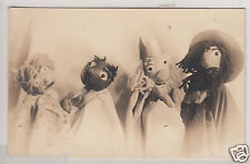 RPPC - Halloween-esque Hand Puppets - early 1900s