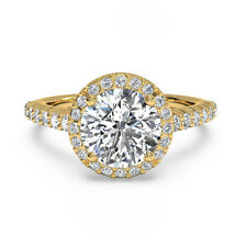 1.00 Ct Solitaire Diamond Rings Solid Natural 14K Yellow Gold Size 4 5 6 AS43