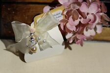 10 Gastgeschenke Kartonagen Tasche mit Schleifenband  Idee Hochzeit zum Befüllen