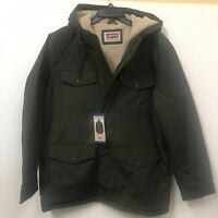 Levi's Men's Four-Pocket Jacket with Fleece Lining in Olive  Size Large