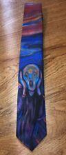 Ralph Marlin Edvard Munch Vintage 1994 The Scream Painting Retro Mens Tie