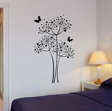 Wall Decal Butterfly Dandelion Flowers Home Decoration Vinyl Stickers (ig2982)