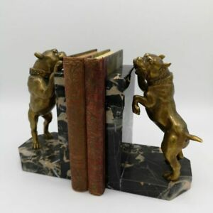 Heavy Detailed Book Support from The Art Nouveau IN Bronze And Marble