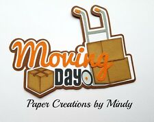 CRAFTECAFE MINDY MOVING DAY HOME premade paper piecing scrapbook title diecut