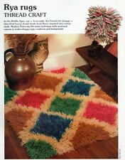 ~ Pull-Out Pattern For Gorgeous Shaggy Rya Latch Hook Rug & Floor Cushion ~