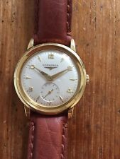 Longines Solid Gold 18 K Oro Massiccio 18 Kt Or 0,750 Watch Vintage Mechanic