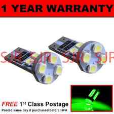 W5W T10 501 CANBUS ERROR FREE GREEN 8 LED SIDELIGHT SIDE LIGHT BULBS X2 SL101605