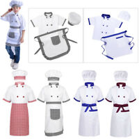 Child Chef Costume Kid Boy Girl Cook Job Uniform Fancy Dress Up Cosplay Outfits