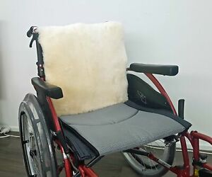 Sheepskin Wheelchair Backrest Panel Covers