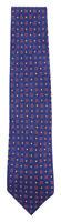 """Barba Napoli Navy Blue Foulard Silk Tie - 3.5"""" x 58.5"""" - (458)"""
