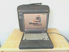"Vtg 14"" Compaq Armada 1750 Windows 2000 Pro Laptop Serial Rs-232 Good Battery"