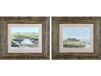 Pair of Mary Gundry - 'Suffolk Estuary Landscapes' - Watercolours, original
