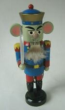 Vintage Handcrafted Erzgebirge Wood Nutcracker Made in Germany 9.5 inches Tall