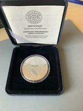 """ESTONIA PRF 50 Krooni Silver Coin 2010 """"Estonian Nature"""". STONE INSERT! Box/COA"""