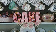 FREESTANDING CAKE LETTERS MADE WITH CATH KIDSTON DESIGN DRESSER DISPLAY CUPCAKE