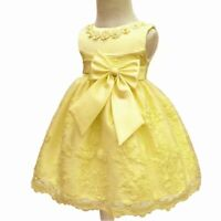 Dress party dresses formal baby bridesmaid wedding flower princess girl kid tutu