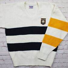 Vtg PITTSBURGH STEELERS Cliff Engle SWEATER Pro Line Authentic Mens NFL 80s