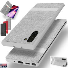 Samsung Galaxy Note 10+ S20 Ultra S10+ Plus Slim Wallet Card Case Stand Cover