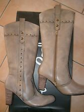 (Z36) Pepe Jeans Damen Schuhe Leder Stiefel im Western Style mit Nieten gr.39