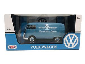 Volkswagen Porschewagen Blue Motor Max 1:24 Scale Diecast New