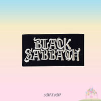 Black Sabbath Music Band Logo Embroidered Iron On Patch Sew On Badge Applique