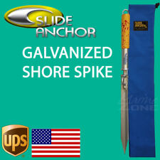 Slide Anchor SHORE SPIKE Galvanized Suits Boats up to 22 feet-Small