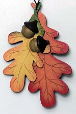 wood leaf Fall Thanksgiving autumn leaves acorn wall art Decor Plaque Signs