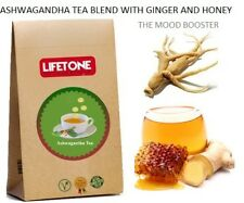 Ashwagandha Root Tea,Blend with Ginger and Honey,20 Teabags