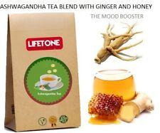 Ashwagandha Wurzel Tee, Mischung mit Ingwer und Honig, 20 Teebeutel, 40g