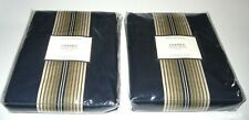 Pottery Barn 2 Panels Ombre Stripe Drape Navy 50 x 96 NIP Pole Top