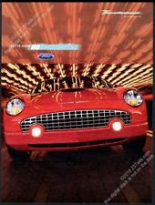 2003 Ford Thunderbird red car photo vintage print ad